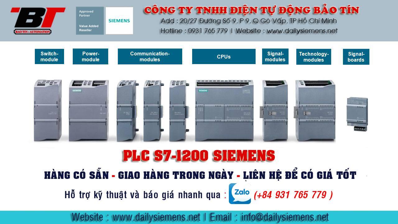 ĐẠI LÝ PHÂN PHỐI BỘ LẬP TRÌNH PLC S7-1200 SIEMENS